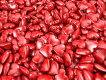 Many red hearts Stock Image
