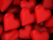 Many red hearts Royalty Free Stock Photo