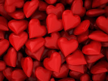 Many red hearts Stock Image