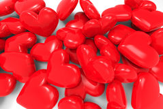 Many red hearts. 3d on background Royalty Free Stock Photography