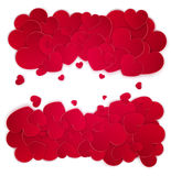 Many red hearts isolated on white background. Space for text Royalty Free Stock Images