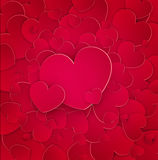 Many red hearts with Stock Photo