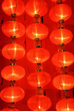 Many red сhinese lanterns Royalty Free Stock Image