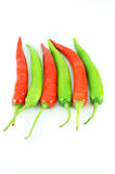 Many of red hot chili pepper. On white background Royalty Free Stock Image