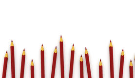 Many red pencils concept Stock Images