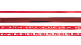 Many red ribbon patterns Royalty Free Stock Images