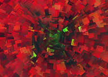 Many red shapes of collider Stock Image