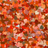 Many red small hearts backgrounds Stock Photos