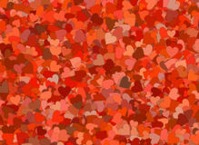 Many red small hearts backgrounds Royalty Free Stock Photo