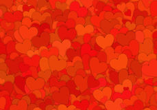 Many red small hearts backgrounds Stock Photography