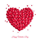 Many red small hearts for Valentine`s Day Stock Photo