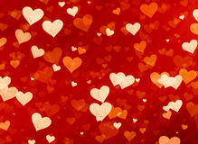Many red small speckle hearts backgrounds Royalty Free Stock Photography