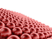 Many red spheres rendered Royalty Free Stock Images