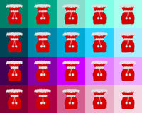 Many red St Nicholas bags Royalty Free Stock Photo