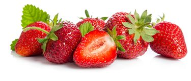 Many red strawberries Royalty Free Stock Photos