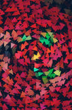 Many red triangles pointer background Stock Photo