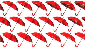 Many Red Umbrellas Royalty Free Stock Photography