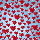 Many Red Valentine Hearts Royalty Free Stock Photography