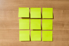 Many reminder notes on the  background Royalty Free Stock Images