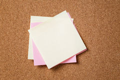 Many reminder notes on cork board Royalty Free Stock Photo