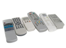 Many remote Control. Isolated over white Stock Photography