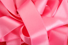 Many ribbons on red Royalty Free Stock Image