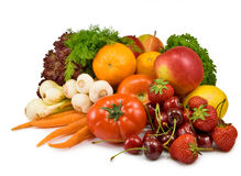 Many ripe fruits and vegetables Royalty Free Stock Photography