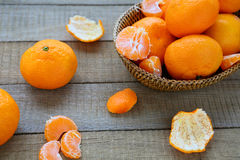 Many ripe juicy tangerine Royalty Free Stock Photos
