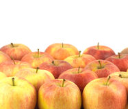Many ripe tasty apples isolated close up Stock Photo
