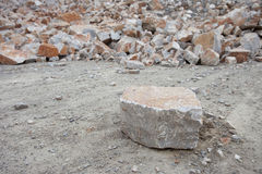 Many rock and stones at quarry field Stock Photography