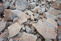 Many rock and stones at quarry field Royalty Free Stock Photo