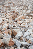Many rock and stones at quarry field Stock Photo