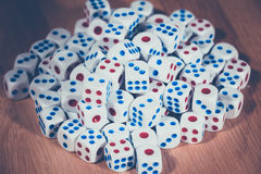 Many Rolling the dice. Close up of many Rolling the dice concept for business risk Stock Image