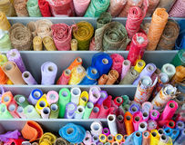 Many rolls of colorful wrapping Royalty Free Stock Photo