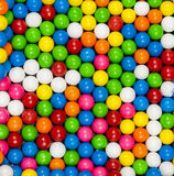 Colorful gumballs arranged in a patter Stock Images