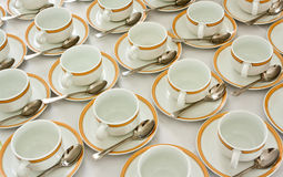 Many rows of coffee cup Stock Images