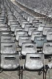 Many rows of plastic chairs outdoor Royalty Free Stock Images