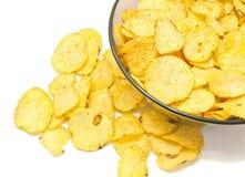 Many ruffles potato chips closeup Stock Photography