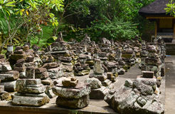 Many ruin stones at Elephant temple in Bali, Indonesia Royalty Free Stock Images