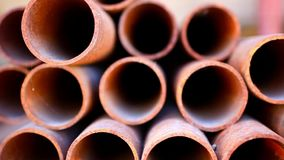 Many rusty pipes of Russian factory. HD. 1920x1080 stock footage