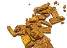 Many rye crackers Stock Photos