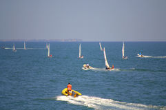Many sailing boats race,Burgas Stock Image