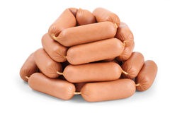 Many sausages slide stock photo