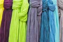 Many scarves Stock Image