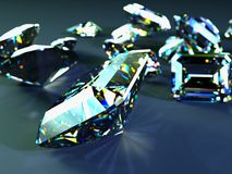 Many scattered gems Royalty Free Stock Images