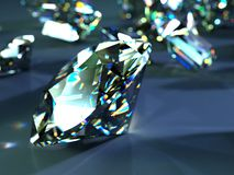 Many scattered gems Stock Photo
