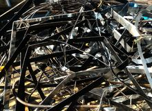 Many scrap metal for background. Detail many scrap metal for background royalty free stock photography