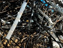 Many scrap metal for background. Detail many scrap metal for background royalty free stock photos