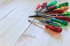 Many screwdrivers Stock Photos