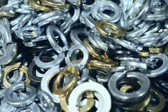 Many screws arranged as background Stock Images